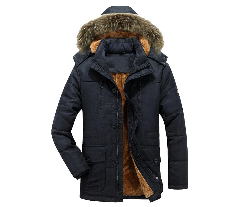 Thick Warm Parka Men New Hot Long Winter Jacket Men Hooded Military Cargo Mens Winter Coat Plus Size M-5XL 12