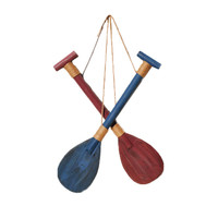 Mediterranean Vintage Nautical Style Household Office Decor Wood Boat Paddle Hook Wall Decoration 60cm Boat Paddle