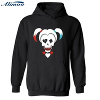 Alimoo Mens Cotton Hoodies And Sweatshirts DC Suicide Squad Harley Quinn Hooded Lovers Hoodie In Super