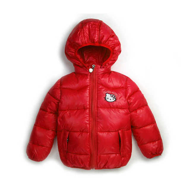 b63817932 New 2015 Children Winter Outerwear Clothing Girls Hello Kitty Jacket ...