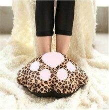 FFFAS Cartoon plush catlike USB foot warmer treasure super soft washable warm feet shoes warm shoes foot warmers USB Gadgets
