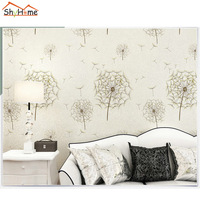 10m Waterproof Dandelion Classical Natural Floral Wallpaper For Wall Livingroom Mural Rolls Wall Paper TV Background