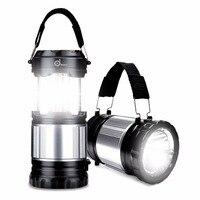 Портативный фонарь светодиодный на солнечных батареях Кемпинг наружный фонарь для палаток Складная Лампа перезаряжаемые фонарик для кемп...