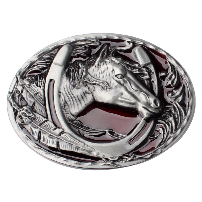 Equestrian Horse Head Belt Buckle Simple Personality Smooth Buckle