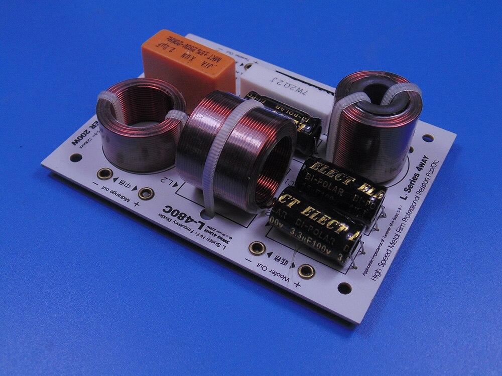 2pcs KASUN L 480C 3 Way 4 Unit 200W Hi Fi Audio Speaker Frequency Divider Crossover
