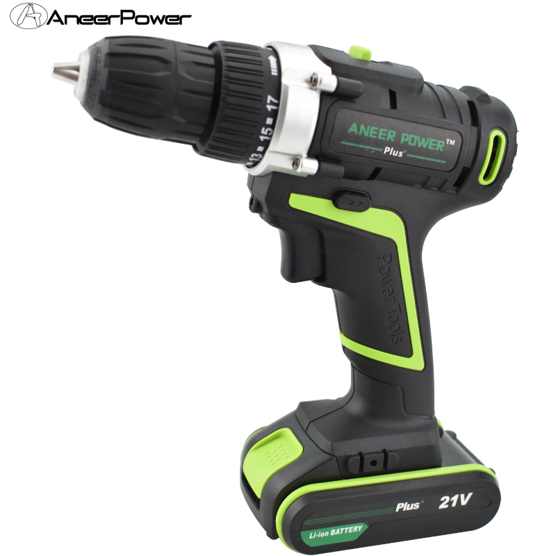цена на 21V Plus Electric Screwdriver Power Cordless Hand Drill Battery Tools Mini Drilling Screwdriver Electric Drill Tool EU Batteries
