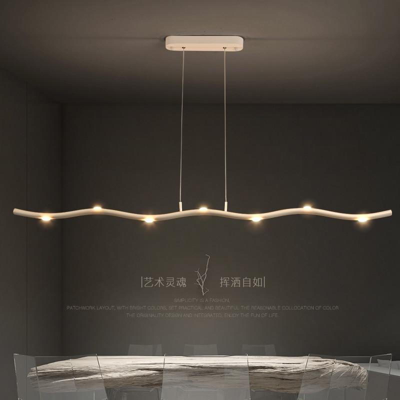 Image 4 - Minimalism Modern Led Pendant Lights For Dining room hanging lights suspension nordic lamp luminaire Pendant Lamp light fixtures-in Pendant Lights from Lights & Lighting