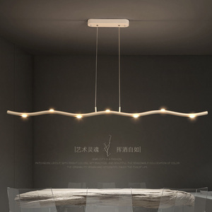 Image 4 - Plafonnier suspendu nordique moderne pendentif Led, design minimaliste, luminaire dintérieur, idéal pour une salle à manger