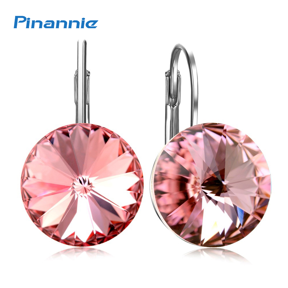 Aliexpress.com : Buy Pinannie Gold Color Austria Crystal Earrings ...
