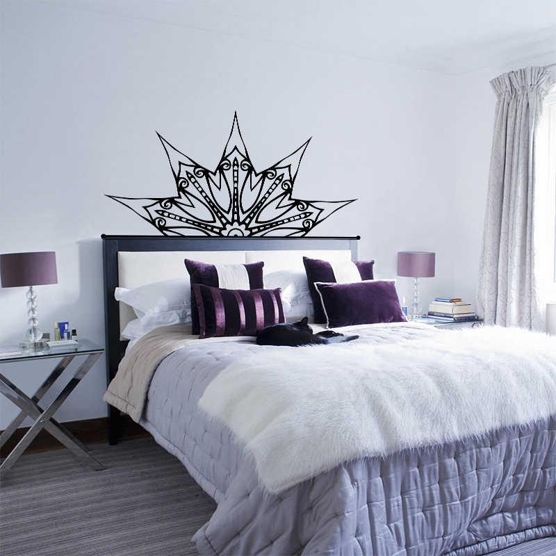 Лидер продаж мандала цветок стены Стикеры кровать ковер для изголовья настенные ПВХ украшение на стену спальни Гостиная Home Decor