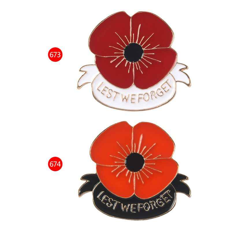 Poppy Brooch Flower Floral Pins Fashion Women Jeans Decoration Lapel Pin  Cartoon Badge Clothes Ornament Corsage Pin Jewelry