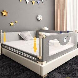 Cerca de cama de seguridad para bebés de 0 a 6 años barandilla de protección inastillable seguridad para niños contra 1,8-2,2 m deflector de cabecera barandilla para cama