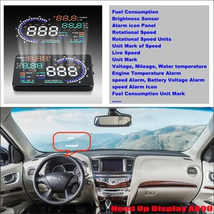 Автомобильный OBD HUD Дисплей для Infiniti Q50 Q60 QX50 QX60 QX70 2010-2020 2017 2018 экран для вождения проектор лобовое стекло сигнализация