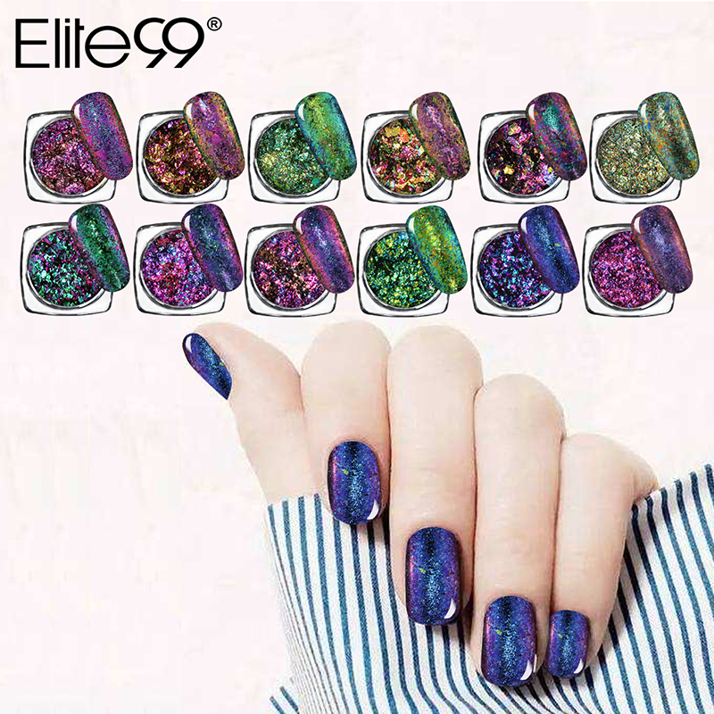 Aliexpress.com : Buy Elite99 Color Changing Nail Chrome