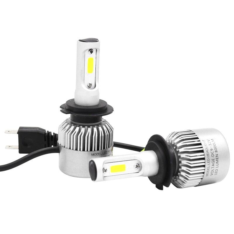 Meilistar S2 COB 72W 8000LM H7 LED lights LED lights bulbs headlights fog lights 12V / 24V car replacement parts 6500K