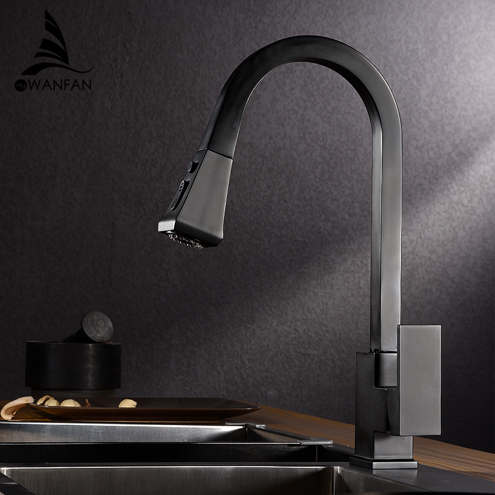 Kitchen Faucets Silver Single Handle Pull Out Kitchen Tap Single Hole Handle Swivel 360 Degree Water Mixer Tap Mixer Tap 866399RKitchen Faucets Silver Single Handle Pull Out Kitchen Tap Single Hole Handle Swivel 360 Degree Water Mixer Tap Mixer Tap 866399R