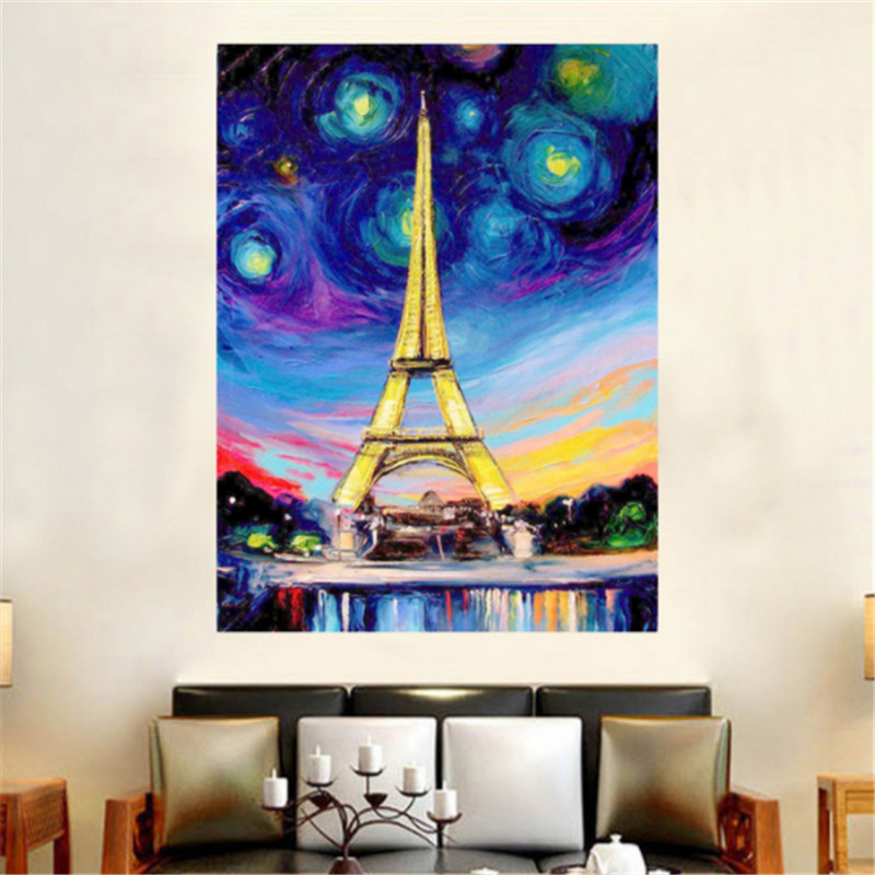 Diamond Embroidery Sale Painting Full Square Paris  Tower Oil Series LUOVIZEM L271