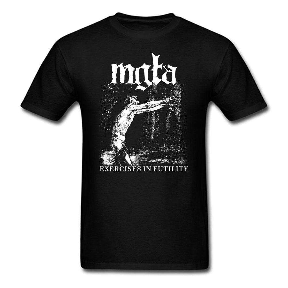 Mgla Exercise In Futulity further dowm the nest T shirt men women printing poland Black metal band custom tee BIG SIZE S-XXXL
