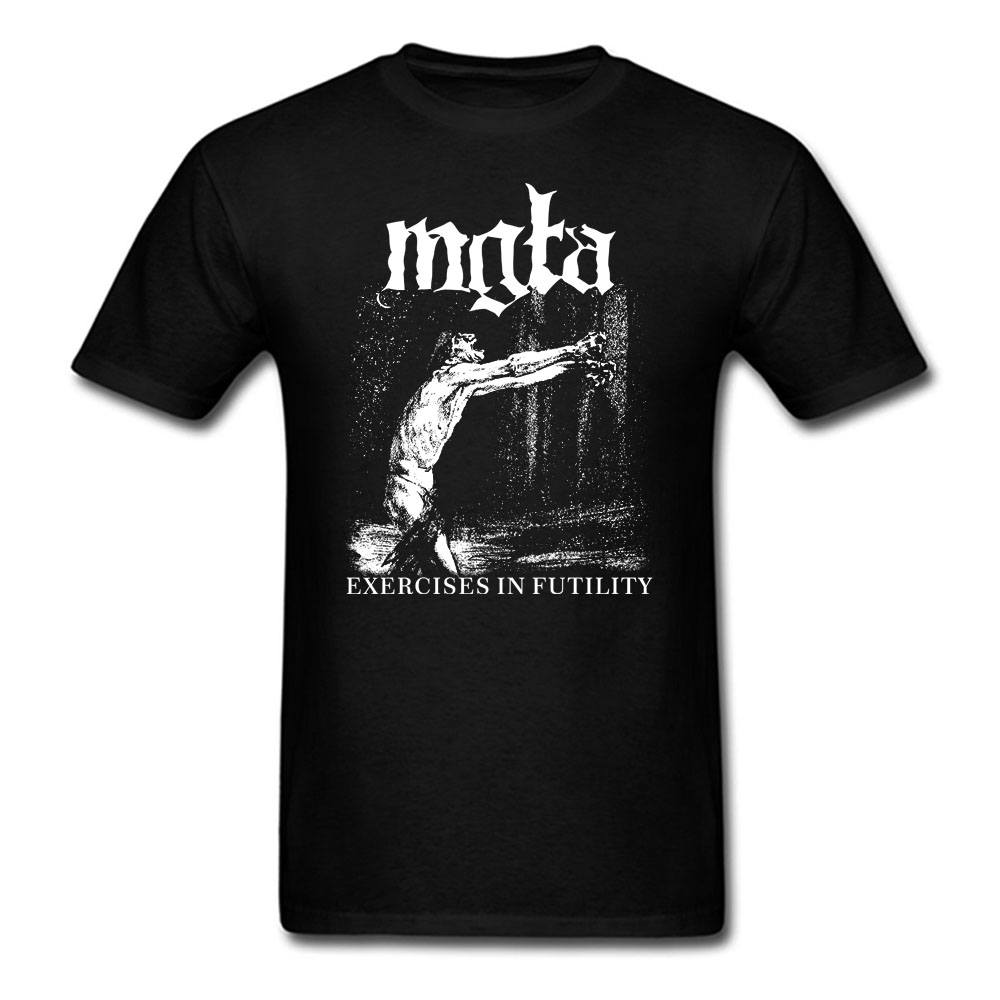 Mgla Exercise In Futulity further dowm the nest T shirt men  women  printing poland Black metal band custom tee BIG SIZE S-XXXL
