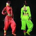 New Fashion brand Adult Women Trousers wear sweatpants ds costume female neon color loose harem Hip hop dance pants