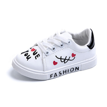 Children Sneakers for Girls Boys Kids Casual Shoes Sport Baby Letters Lace-Up Running
