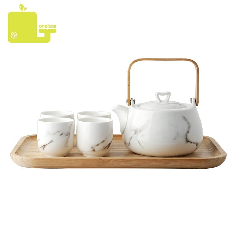 6pcs Ceramic Teaware Sets Bone China Teapot With Bamboo Tea Tray Drinking Tea Cups Japanese Tea Pot 800ml6pcs Ceramic Teaware Sets Bone China Teapot With Bamboo Tea Tray Drinking Tea Cups Japanese Tea Pot 800ml