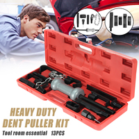 13PC Heavy Duty Retractable Dent Puller w/10lbs Slide Hammer Auto Body Truck Repair Tool Kit Hand Tool Sets