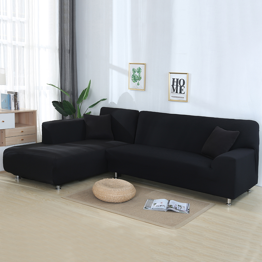 Urijk Covers Slipcover-Corner Sofa Chaise Stretch Living-Room L-Shaped Sectional 2pcs