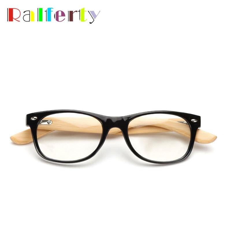 dd8b512bc5 Ralferty Vintage Retro Glasses Frame For Women Men Small Eyewear Gold Wood  Glasses Bamboo Temple Eyeglasses