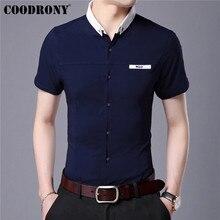 COODRONY Cotton Shirt Men Business Casual Shirts Spring Summer Short Sleeve Men Shirt Streetwear Camisa Masculina Blouse S96002 10pcs lot free shipping ir2101strpbf ir2101s ir2101 sop ic