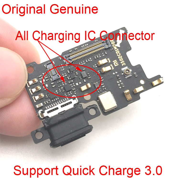 New Dock Charger Connector For Xiaomi Mi6 Mi 6 USB Charging Port  Flex Ribbon Cable Mic Microphone Board