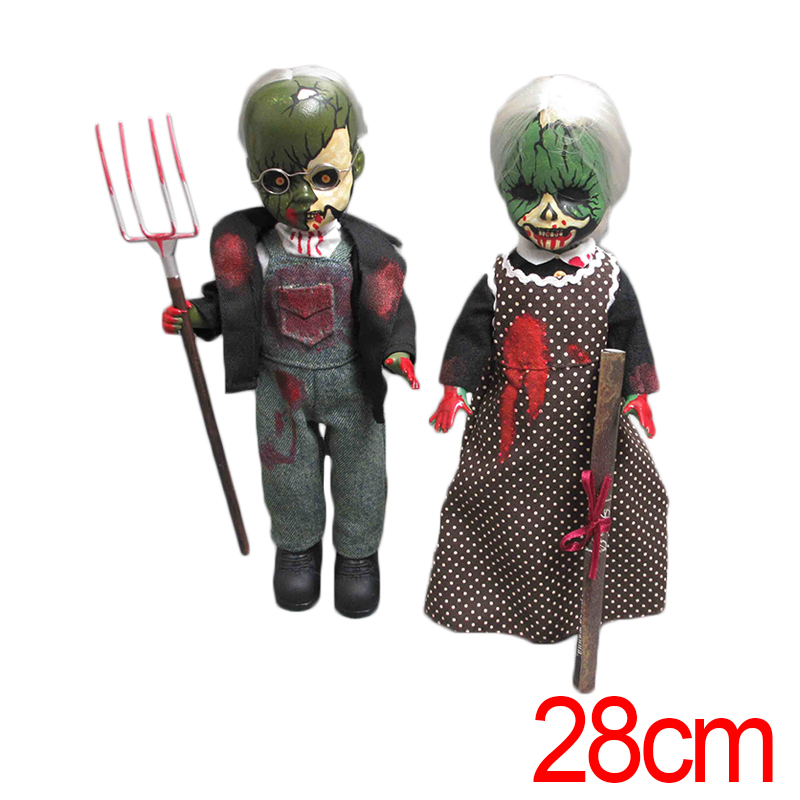 C&F Living Dead Dolls Anime Action Figure Toy Collectible 28 CM 2 PCS Horror American Gothic Model Brinquedos PVC Toys neca planet of the apes gorilla soldier pvc action figure collectible toy 8 20cm