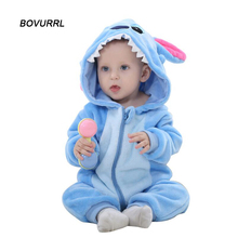 BOVURRL Baby Clothes Rompers Newborn Spring Winter Long Sleeve Clothes Infant Cartoon Flannel Clothing Baby Girl Boys Jumpsuits infant romper spring autumn baby clothes flannel baby boys clothes cartoon animal jumpsuits infant girl rompers baby clothing