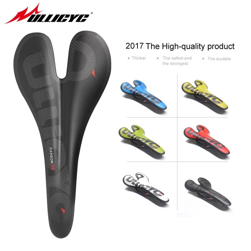 In fibra di carbonio strada mountain bike sella carbonio sella cuscino del sedile ultralight MTB Strada Della Bici Pieghevole Sedile Anteriore 90g ZD128