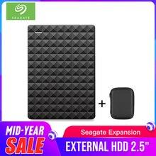"""سيجيت المحمولة 1 تيرا بايت HDD 2.5 """"قرص صلب خارجي 1 تيرا بايت/2 تيرا بايت/4 تيرا بايت USB 3.0 قرص صلب أسود للكمبيوتر المحمول ديسكو دورو Externo"""
