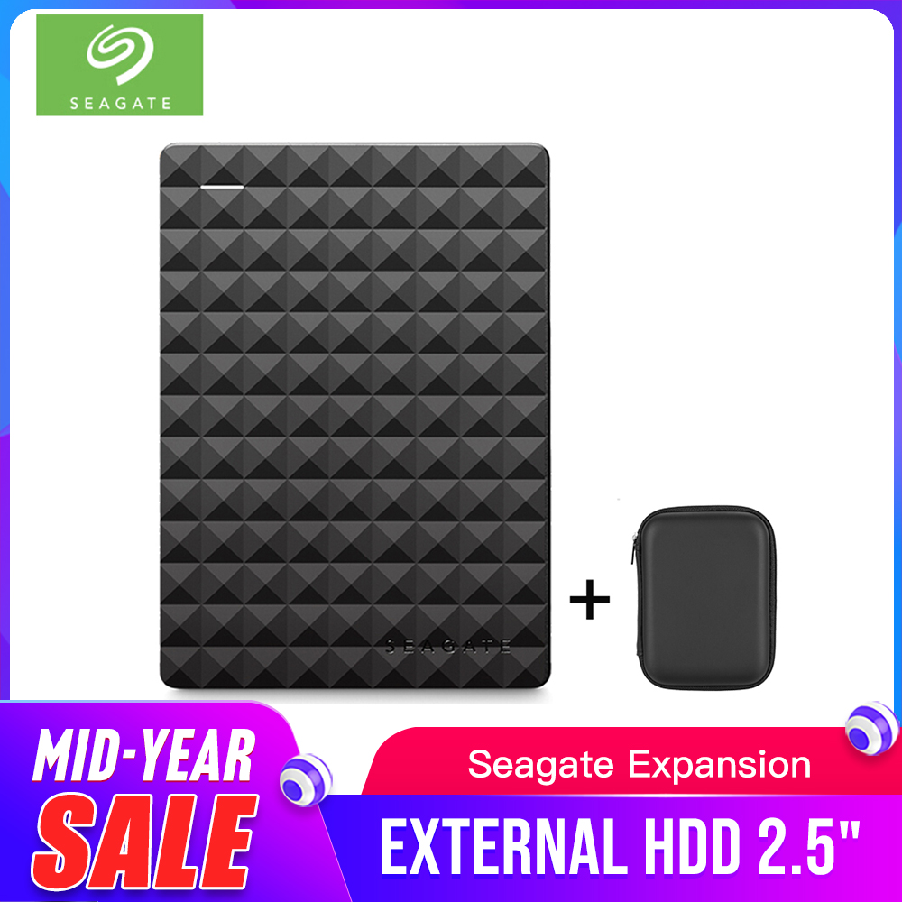 Seagate Portable 1TB HDD 2.5 External Hard Drive 1TB/2TB/4TB USB 3.0 Black Hard Disk for Computer Laptop Disco Duro Externo