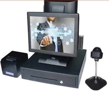 Free shipping 2016 new 15 inch dual screen display touch computer double screen all in one pos system restaurant cash register