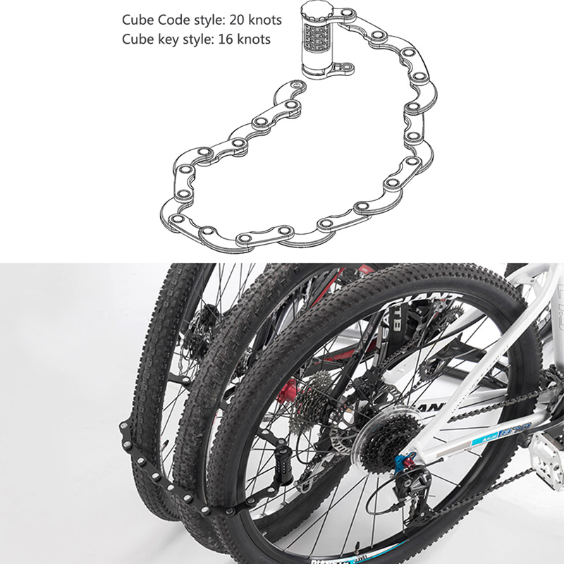 2018 Bicycle Password Lock Anti-theft Bike Lock Bicycle Cable LED Light Lock