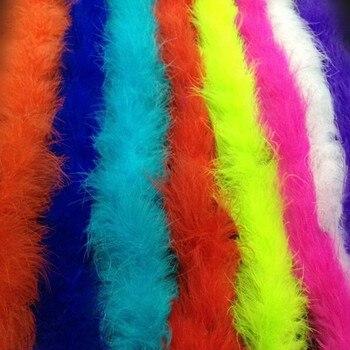 2M Thicken Fluffy Marabou Feather Boa Women Girls Garmant DIY  Dance Party Decoration   Christmas Halloween Navidad