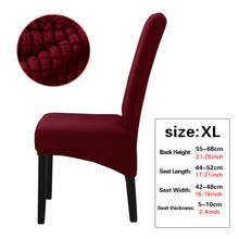XL Large Chair Cover Solid Solid Elastic Big Size Chair Dining Seat Slipcover Cushion Anti-dirty Home Decoration Protector