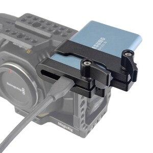 Image 1 - MAGICRIG Ốp dành cho Samsung T5 SSD Thẻ Kẹp có USB C Kẹp Dây Cáp Tương Thích Với MAGICRIG Khung Máy Ảnh cho BMPCC 4K Camera
