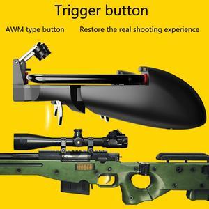 Image 5 - Mobil PUBG Joystick denetleyicisi AK66 altı parmak All In One Gamepad PUBG için IOS Android L1 R1 tetik çalışma gamepad
