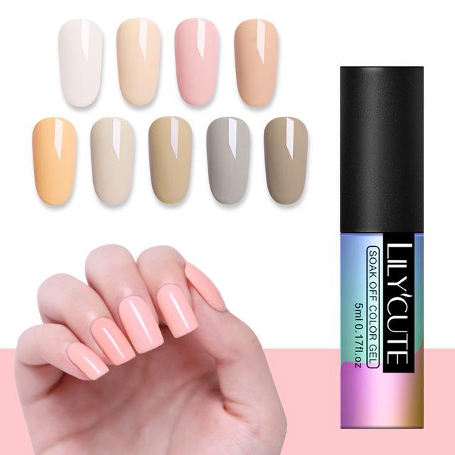 LILYCUTE 5ML Pink Series UV Gel