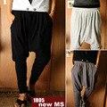 Мужская Повседневная шаровары висит промежность штаны мужчины и женщины Унисекс Моды белка-летяга Брюки высокое качество брюки