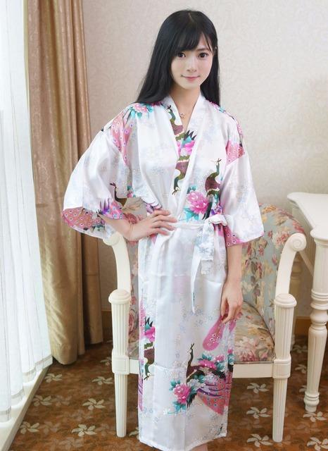 Plus Tamaño de Las Mujeres de Seda del Faux Larga Kimono Robe Bath Vestido Camisón Negro Primavera Verano Sleepshirts Pijamas Pijama Mujer Mys002