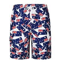 Casual Flag printed Beach Pants Shorts Men Loose Mens Fitness men clothes 2019 Summer