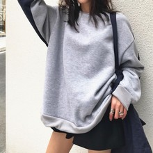 Contrast Color Autumn Winter Pullover Women Plus Velvet Both Positive Back Can Wear Tops Fashion Womens Sweatshirt