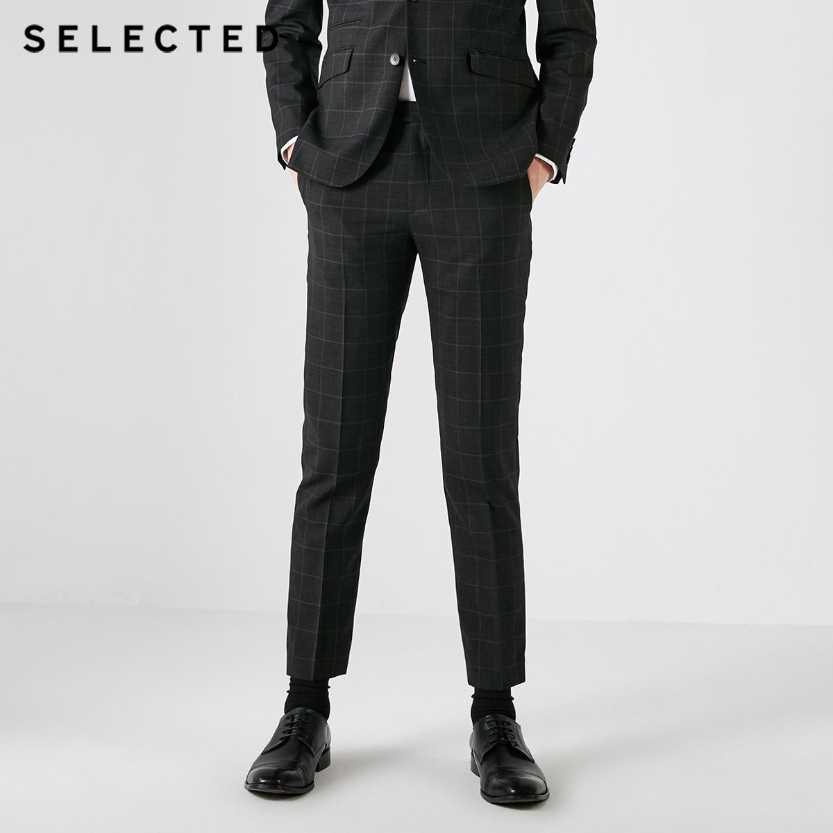 選択男性含むチェック柄ビジネス通勤スーツパンツスタイリッシュな T  41836B501  グループ上の メンズ服 からの スーツ パンツ の中 1