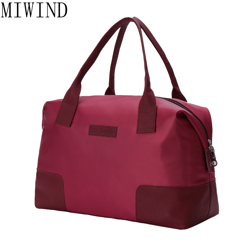 MIWIND Brand Women Fashion Shoulder Bags Large Capacity Travel Bag Hand Luggage weekend Duffle Bags Trip mala Shoulder BagTYY021 new women travel bags fashion printed canvas large capacity waterproof trip luggage duffle bag casual travel shoulder bags dh11