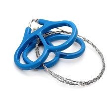 10 pcs Survival Gear Outdoor Plastic Steel Wire Saw Ring Scroll Travel Camping Hiking Hunting Climbing Survival Tool